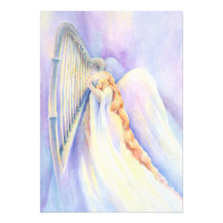 Engel und Harfen-Druck Photodrucke