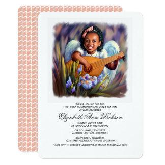 Engelchen-heilige Kommunions-Einladungen 12,7 X 17,8 Cm Einladungskarte