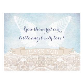 Engels-Flügel-Bestätigung danken Ihnen zu Postkarte