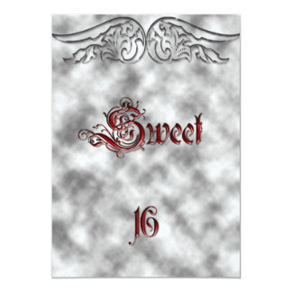 Engels-Flügel-Bonbon 16 Geburtstags-Einladung
