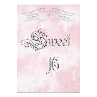 Engels-Flügel-Bonbon 16 Geburtstags-Einladung 12,7 X 17,8 Cm Einladungskarte