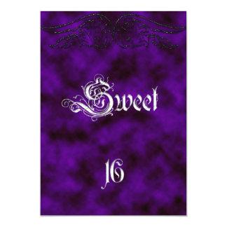Engels-Flügel-Bonbon 16 Geburtstags-gotische Personalisierte Einladungskarten