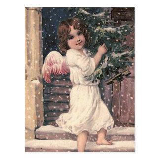 """""""Engels-Lieferungs-"""" Vintage Weihnachtspostkarte Postkarte"""