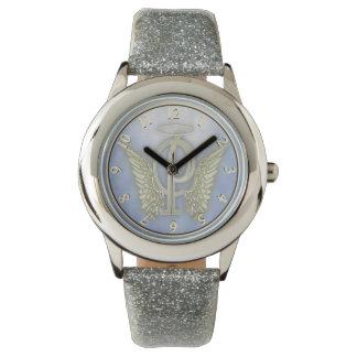 Engels-Monogramm des Buchstabe-P Armbanduhr