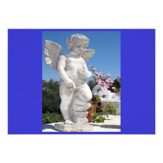 Engels-Statue in Blau I Einladungskarten