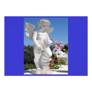 Engels-Statue in Blauem und in Grau I Personalisierte Einladung
