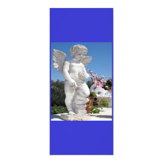Engels-Statue in Blauem und in Weiß IV 10,2 X 23,5 Cm Einladungskarte