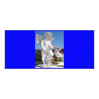Engels-Statue in blauem V 10,2 X 23,5 Cm Einladungskarte