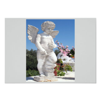 Engels-Statue in Grau I Individuelle Einladungskarten