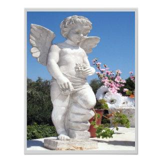 Engels-Statue in Grau III Einladungskarte