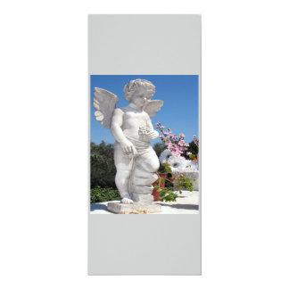Engels-Statue in Grauem und in Weiß IV 10,2 X 23,5 Cm Einladungskarte