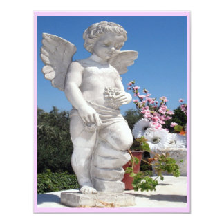 Engels-Statue in Rosa III 10,8 X 14 Cm Einladungskarte