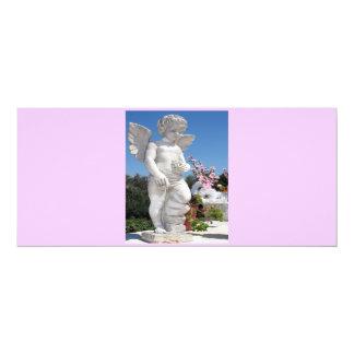 Engels-Statue in rosa und grauem V 10,2 X 23,5 Cm Einladungskarte
