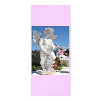 Engels-Statue in rosa und in Weiß IV 10,2 X 23,5 Cm Einladungskarte