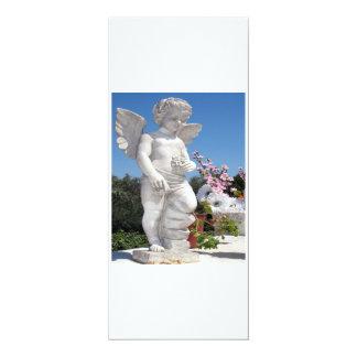 Engels-Statue in Weiß IV 10,2 X 23,5 Cm Einladungskarte