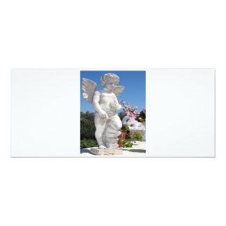 Engels-Statue in weißem und grauem V 10,2 X 23,5 Cm Einladungskarte