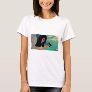 Engels- und Schmetterlingst-shirt T-Shirt