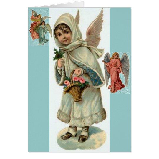 Engels-Weihnachtskarte Grußkarte