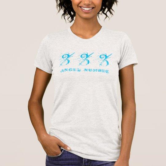 (ENGELS-ZAHL) Synchronicity 333, Blau - T-Shirt