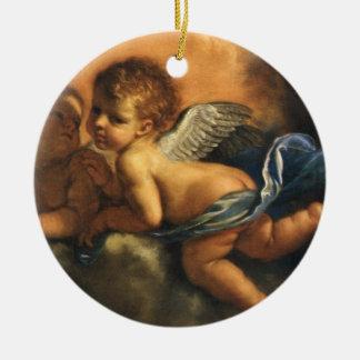 Engelsdetail, Schutzpatrons von Modena durch Rundes Keramik Ornament