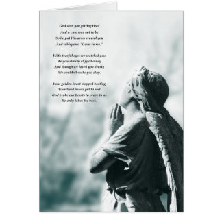 Engelsgebets-Beileidskarte Mitteilungskarte