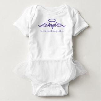 Engelsmädchen Name u. Bedeutungsengel wings Lila Baby Strampler