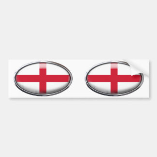 England-Flagge im Glasoval Autoaufkleber
