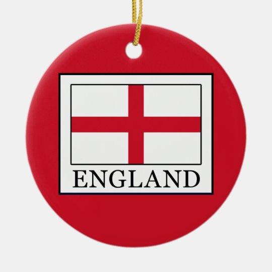 England Rundes Keramik Ornament