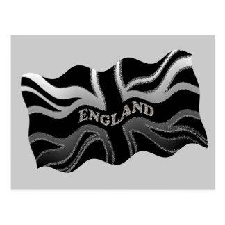 England-Wellen-Flagge Postkarte