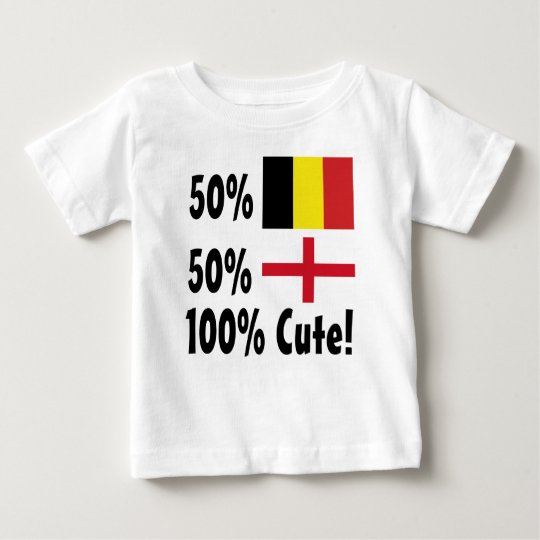 Englisch 100% 50% Belgier-50% niedlich Baby T-shirt