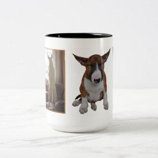 Englisch-Stier-Terrier-Tasse Zweifarbige Tasse