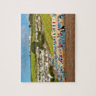 Englisch Woolacombe Strand-Puzzlespiel