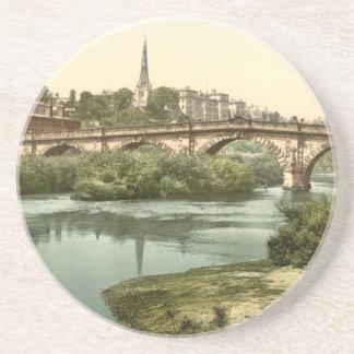 Englische Brücke, Shrewsbury, Shropshire, England Getränkeuntersetzer