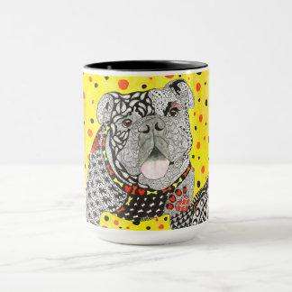 Englische Bulldogge 15 Unze-Tasse (kundengerecht) Tasse