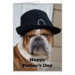 Englische der Vatertags-Karte Bulldoggen-