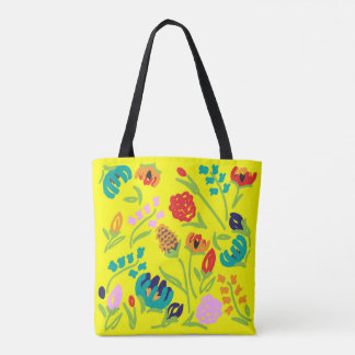 Englische Garten-Gelb-Tasche Tasche