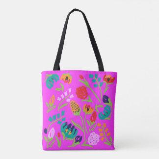 Englische Garten-Rosa-Tasche Tasche