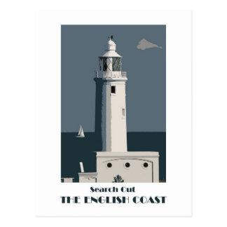 Englische Retro Postkarte der Küste 1920s-style