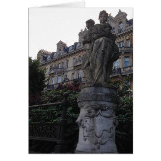 Englische Statue Notecard Karte