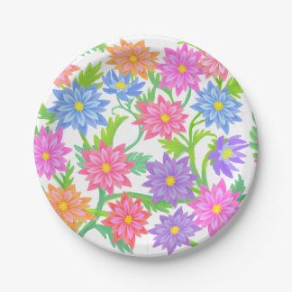 Englischer Garten-BlumenpapierTeller Pappteller 17,8 Cm