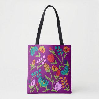Englischer Garten-lila Tasche