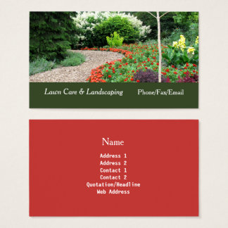 Englischer Garten-Rasen u. Visitenkarte