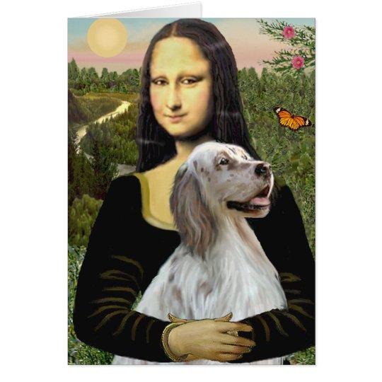 Englischer Setzer 1 - Mona Lisa Grußkarte