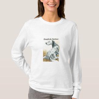 """Englischer Setzer-"" Hundekunst-Shirt T-Shirt"