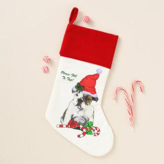 Englisches Bulldoggen-Welpen-Weihnachten Weihnachtsstrumpf