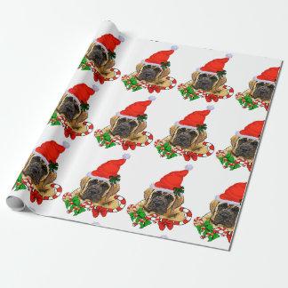 Englisches Mastiff-Weihnachten Geschenkpapier