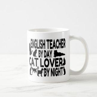 Englischlehrer-Katzen-Liebhaber Kaffeetasse