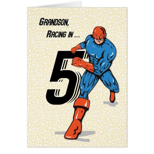 Enkel-5. Geburtstags-Superheld Grußkarte