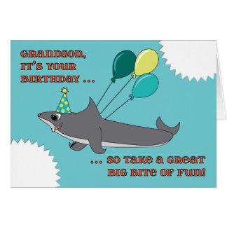 Enkel-großer Haifisch-Biss-alles Gute zum Karte