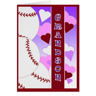 Enkel - i-Liebe Sie mehr als u-Liebe-Baseball Grußkarte
